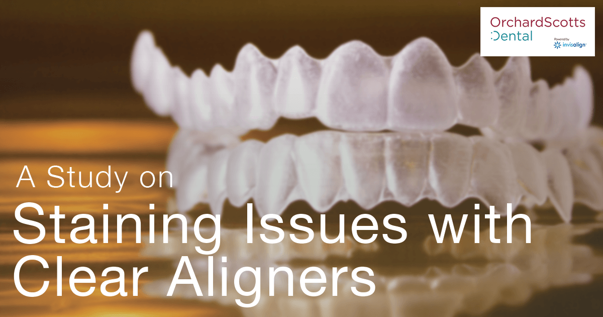 Study: Staining Issues with Clear Aligners Like Invisalign