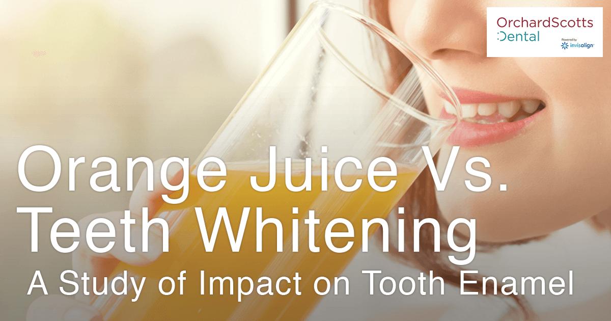 Orange vs Teeth Whitening - A Study on the Impact on Tooth Enamel